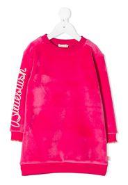 bleach-effect jumper dress