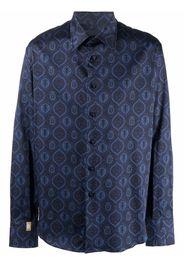 Billionaire Flavio baroque-print shirt - Blu