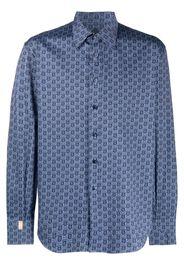 Billionaire Camicia con stampa Milano - Blu