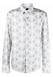 Billionaire Flavio baroque-print shirt - Grigio