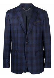 Billionaire check-pattern tailored blazer - Blu