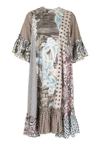 Vestito con design patchwork