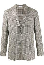 plaid single-breasted blazer