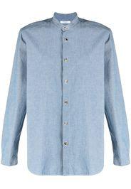 Boglioli band-collar cotton shirt - Blu