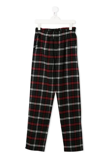 TEEN check trousers