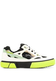 panelled low-top trainers