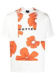 Botter T-shirt a fiori - Bianco