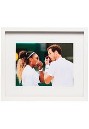 multicoloured framed tennis player print