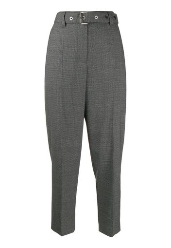 Pantaloni crop con cintura