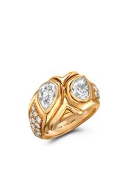 1961 18kt yellow gold Present Day Bvlgari diamond ring