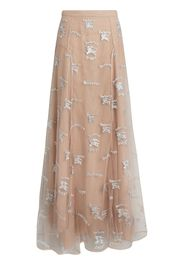 Equestrian Knight Embroidered Tulle Skirt