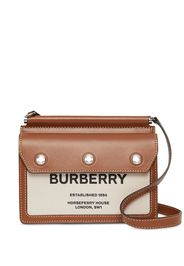 mini Horseferry print leather and canvas Title bag