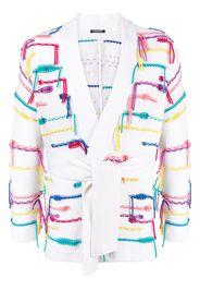 Canessa loose knit wrap cardigan - Bianco