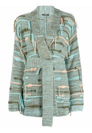 Canessa fringed knitted cardigan - Verde
