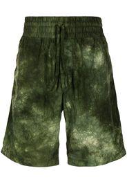 Cerruti 1881 Shorts sportivi con fantasia tie dye - Verde