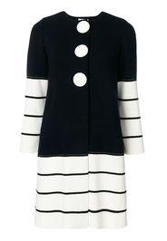 Cappotto di maglia a righe
