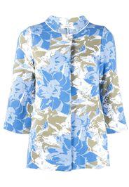 Charlott floral intarsia cardigan - Blu