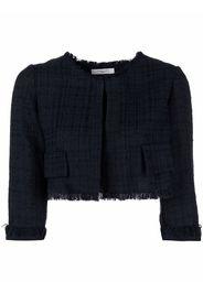 Charlott cropped tweed jacket - Blu