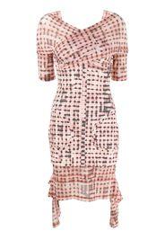 geometric print wrap dress