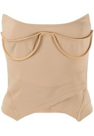 exposed-cup bustier top