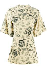 floral sketch mini dress