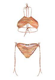 Charlotte Knowles horizontal-stripe bikini - Rosso