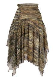 Charlotte Knowles asymmetric silk skirt - Toni neutri