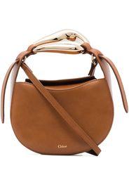 Chloé Kiss leather crossbody bag - Marrone