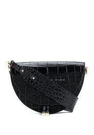 crocodile effect shoulder bag