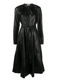 belted single-breasted dress
