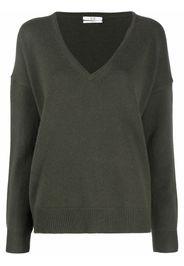 Co oversize V-neck cashmere jumper - Verde
