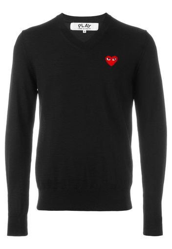 embroidered heart jumper