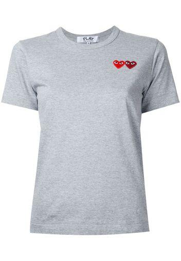 T-shirt con logo doppio