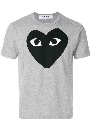 T-shirt con cuore stampato