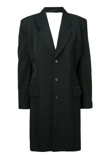 backless tailored coat