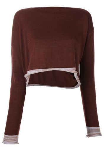 1991 asymmetric knitted blouse