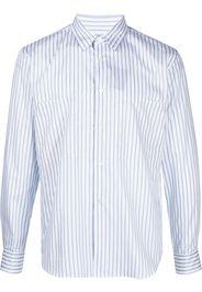 Comme Des Garçons Homme Deux striped cotton long-sleeved shirt - Bianco