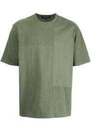 Comme Des Garçons Homme garment-dyed patchwork T-shirt - Verde