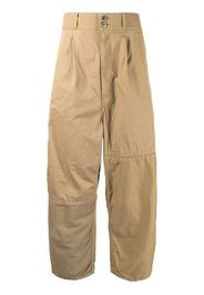 Comme Des Garçons Homme high-waisted straight-leg trousers - Marrone