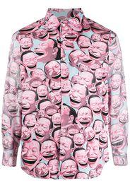 Comme Des Garçons Shirt Camicia con stampa - Blu