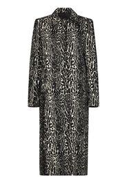 snow leopard jacquard coat