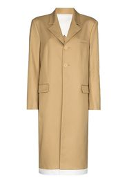 Commission single-breasted contrasting trim coat - Toni neutri