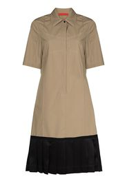 Commission pleated-edge midi shirtdress - Toni neutri
