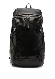 multi-handle leather backpack