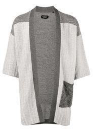 patchwork knitted kimono