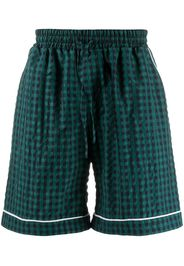 checked deck shorts
