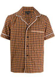 checked shortsleeved shirt