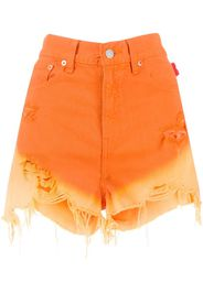 gradient effect denim shorts