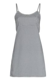 Denimist gingham-check sleeveless minidress - Nero