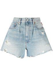 Denimist Shorts denim con effetto vissuto - Blu